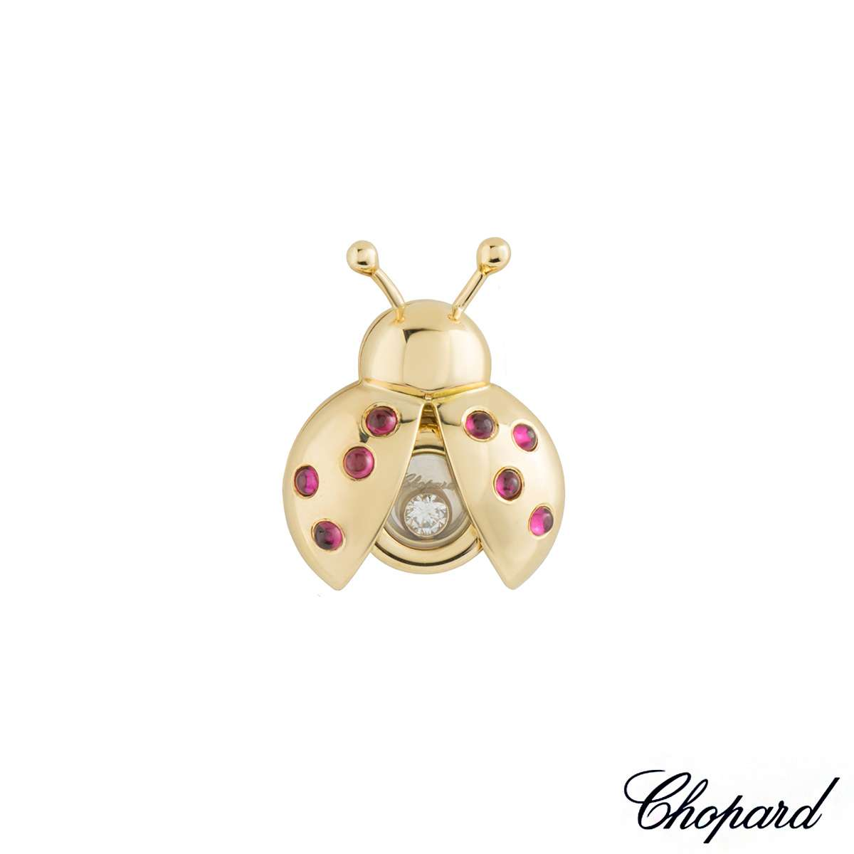 Chopard Happy Diamonds Ladybird Brooch